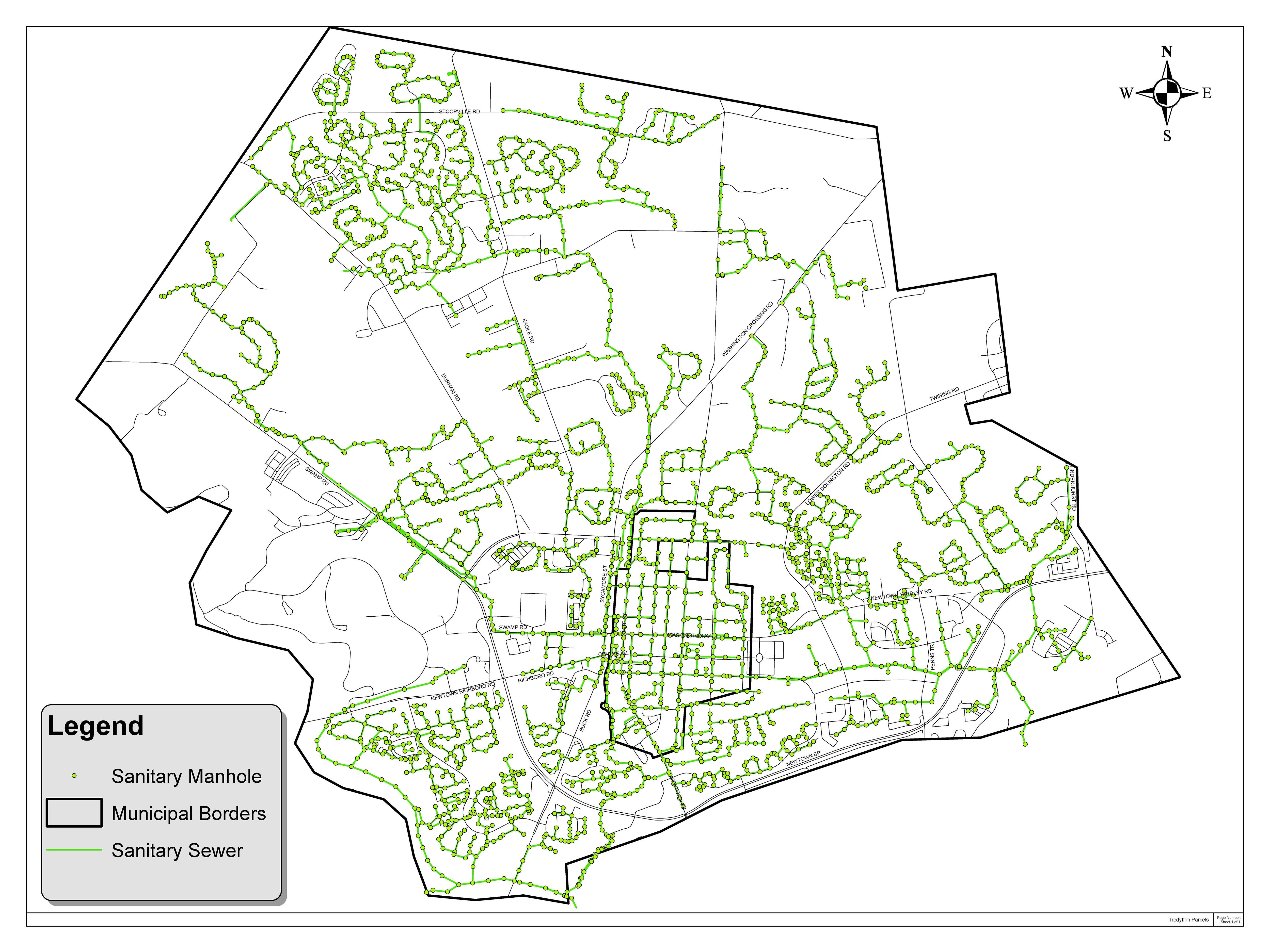 NBCJMA Service Map Newtown Bucks County Joint Municipal Authority - Us muni map